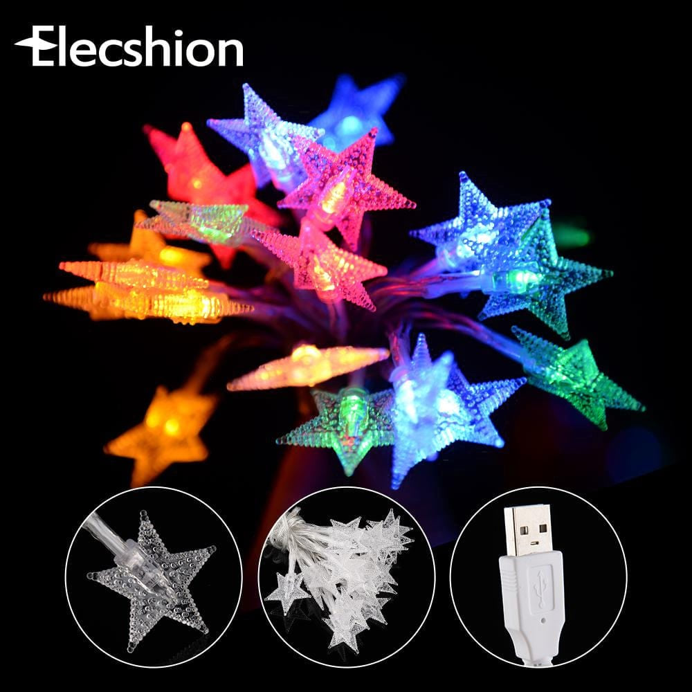 Waterproof USB Led Strip Night Decoration RGB LED Star Light Lamp Power Supply Fairy Christmas Wedding