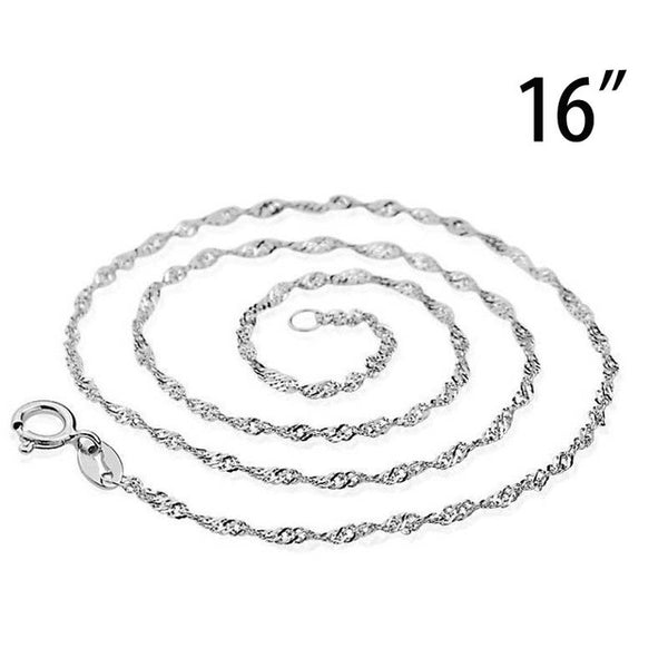 925 sterling silver Snake Chain Plated Necklace Statement Jewelry Women sterling silver jewelry chokers fashion accessories