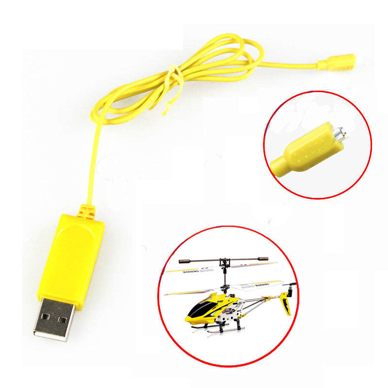2PCS RC Helicopter Syma S107 S105 USB Mini Charger Charging Cable Parts Drone Charging Cable - MAXMARTZ
