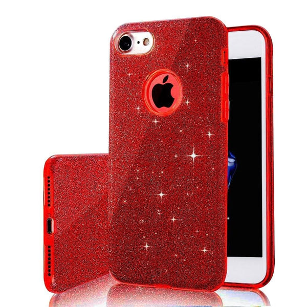 3 IN 1 Gradient Glitter Cover for iphone 5 5S SE 6 plus 6s plus Case Clear PC+TPU Coque 7 7 plus Cases Bling Fashion - MAXMARTZ