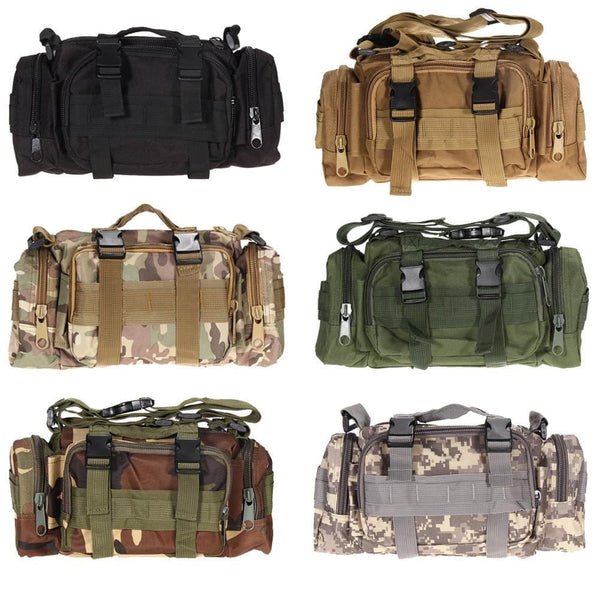 3L/6L Outdoor Military Tactical Waist Bag Waterproof Nylon Camping Hiking Backpack Pouch Hand Bag - MAXMARTZ