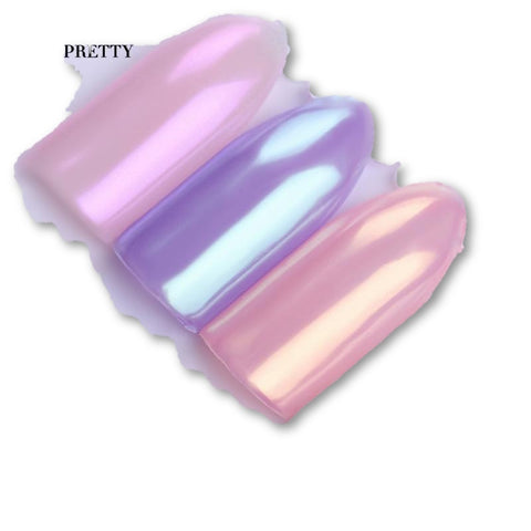 1 Box 3 Colors (Pink, Purple, Peach) Mermaid Nail Glitter Powder Holographic Nails Pigment Dust Nail Art Decoration - MAXMARTZ