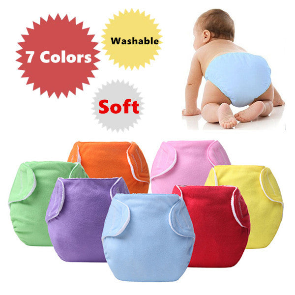 3pcs Lot Baby Diapers Children Cloth Diaper Reusable Nappies Adjustable Diaper Cover Washable Free Shipping QD23