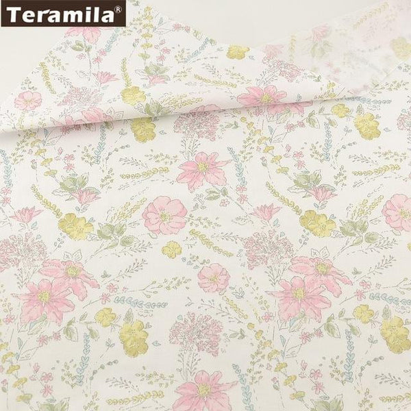 Teramila Cotton Fabric 25 Designs Pink Series Quilting Charm Packs Fat Quarter Meter DIY For Bedding Clothing Dress Home Textile - MAXMARTZ