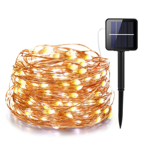 11m/21m/31m/41m  LED Outdoor Solar Lamp LEDs String Lights Fairy Holiday Christmas Party Garland Solar Garden Waterproof Lights - MAXMARTZ