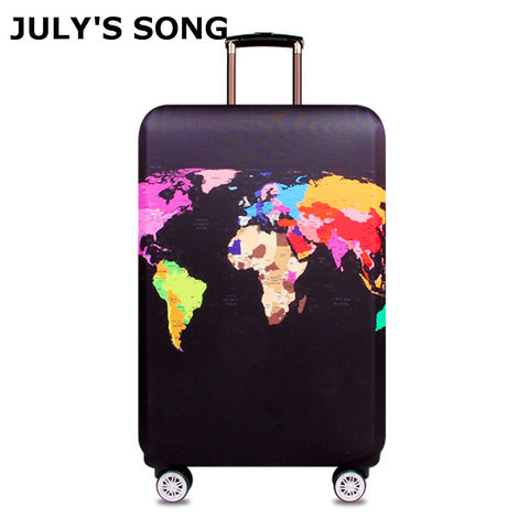 JULY'S SONG Travel Protective Cover Suitcase Elastic Dust Cover Trolley Luggage Case for 18~32 inch Suitcase Travel Accessories - MAXMARTZ