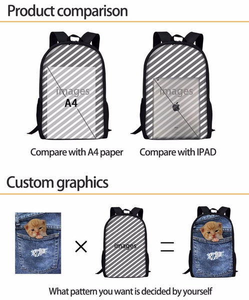 FORUDESIGNS School Bags Fortnite Games Pattern School Backpack for Girls Boys Orthopedic Schoolbag Backpacks Children Book Bag