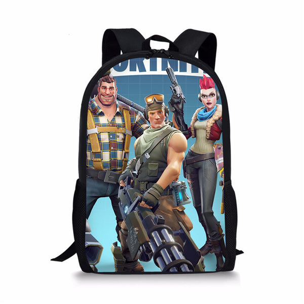 FORUDESIGNS School Bags Fortnite Games Pattern School Backpack for Girls Boys Orthopedic Schoolbag Backpacks Children Book Bag - MAXMARTZ