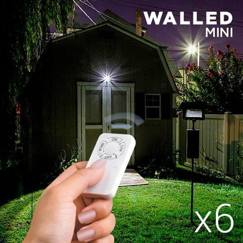 WalLED Mini LED Lamps with Remote Control (pack of 6) - MAXMARTZ