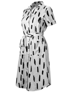 Nursing Line Dot Button Up Dress