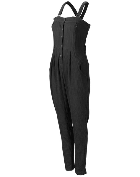 Nursing Noir Sweater Knit Jumpsuit