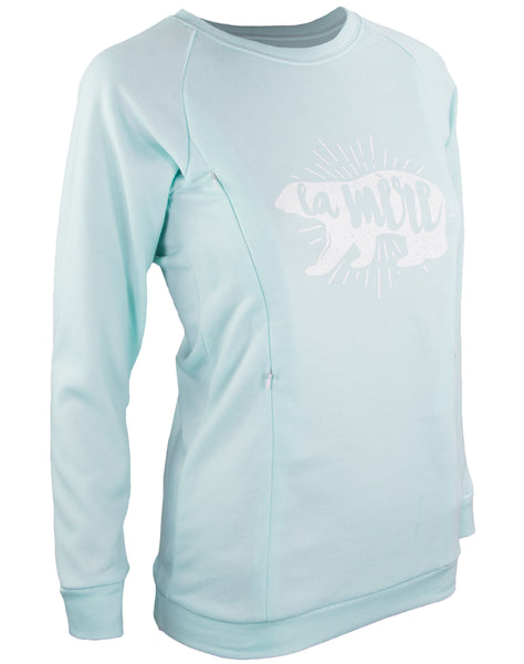 La Mere Breastfeeding Sweatshirt - Sky Blue