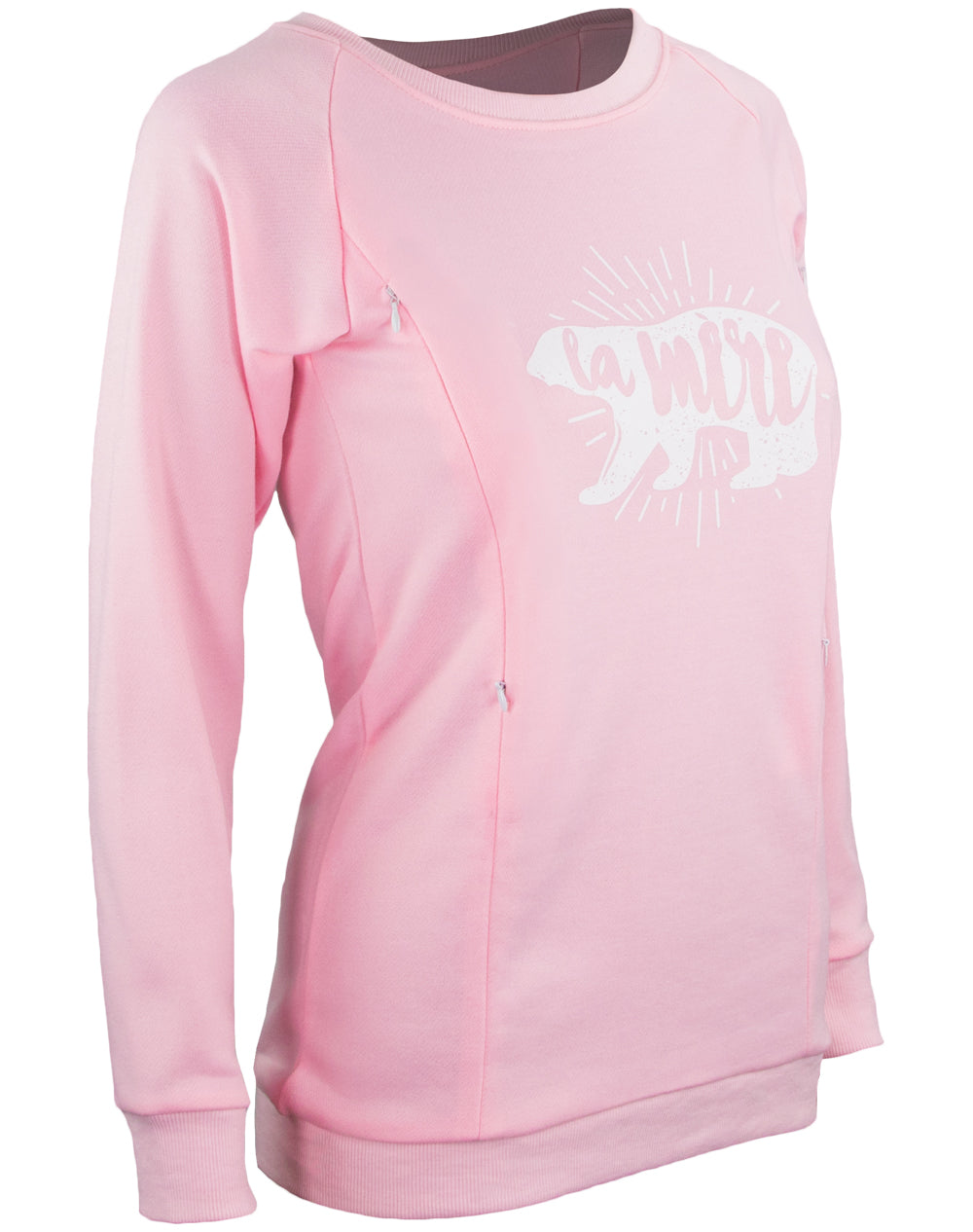 La Mere Breastfeeding Sweatshirt - Light Pink