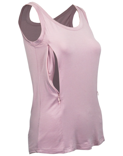Nursing LUX Tank Top - Dusty Pink