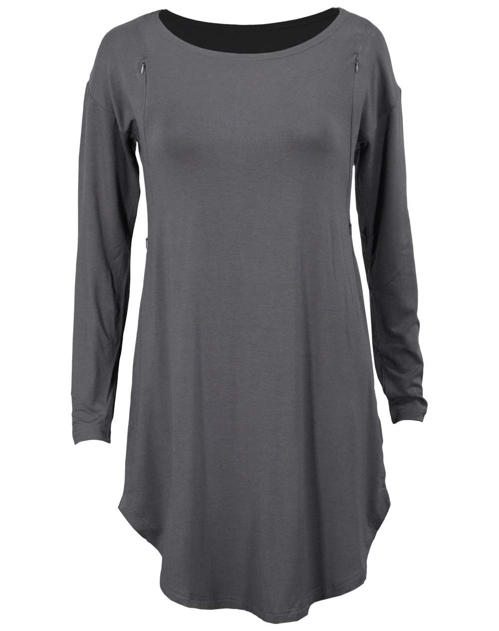Nursing Long Tunic - Gray