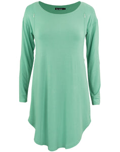 Nursing Tunic - Seafoam Teal