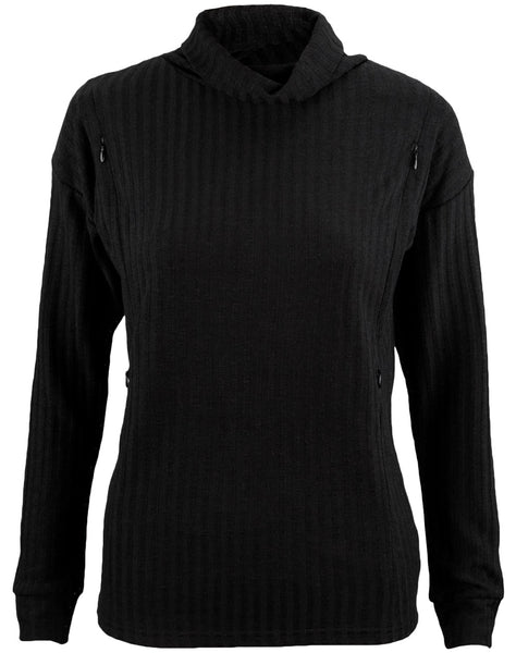 Nursing Ribbed Turtle Neck