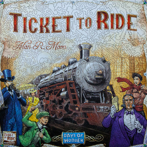 Ticket to Ride - StumpCraft Deluxe Wooden Jigsaw Puzzle