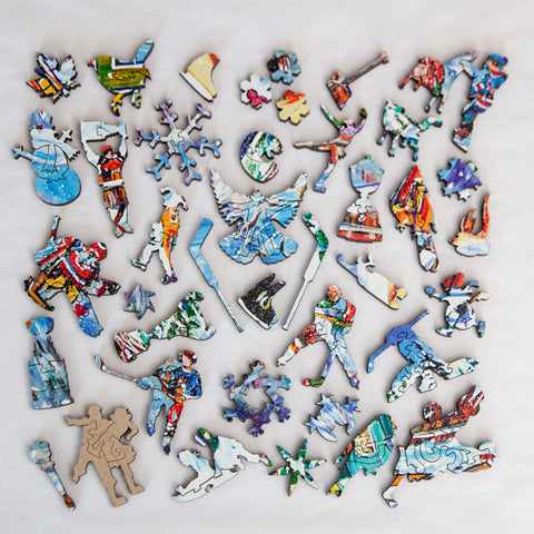 StumpCraft Puzzle Whimsy Mosaic - Another Goal by Katerina Mertikas