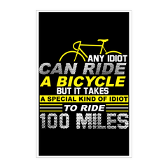 100 Miles Poster - 11x17