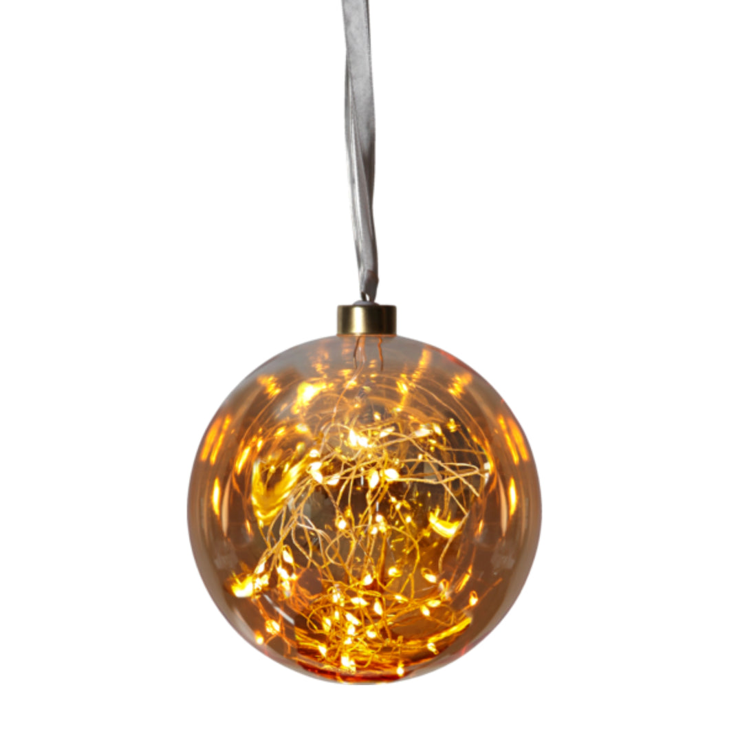 Boule ambre medium avec filament LED