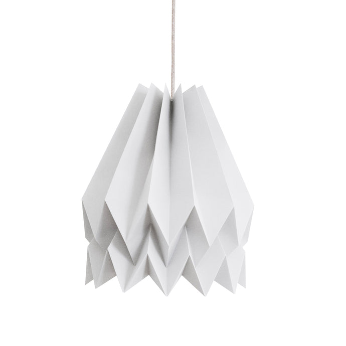 Suspension origami blanc polaire