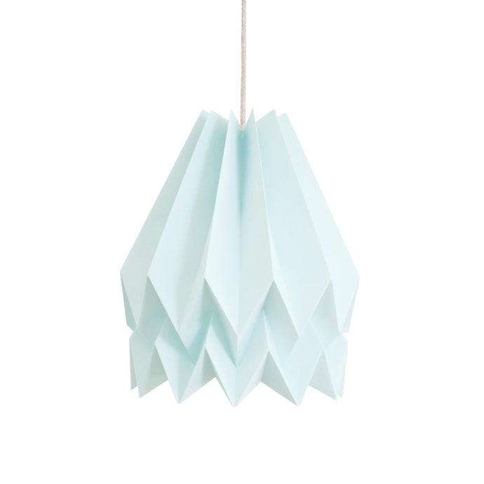 Suspension origami bleu menthe