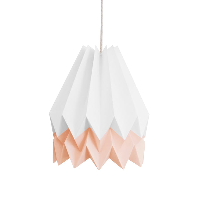 Suspension origami blanc et rose pastel