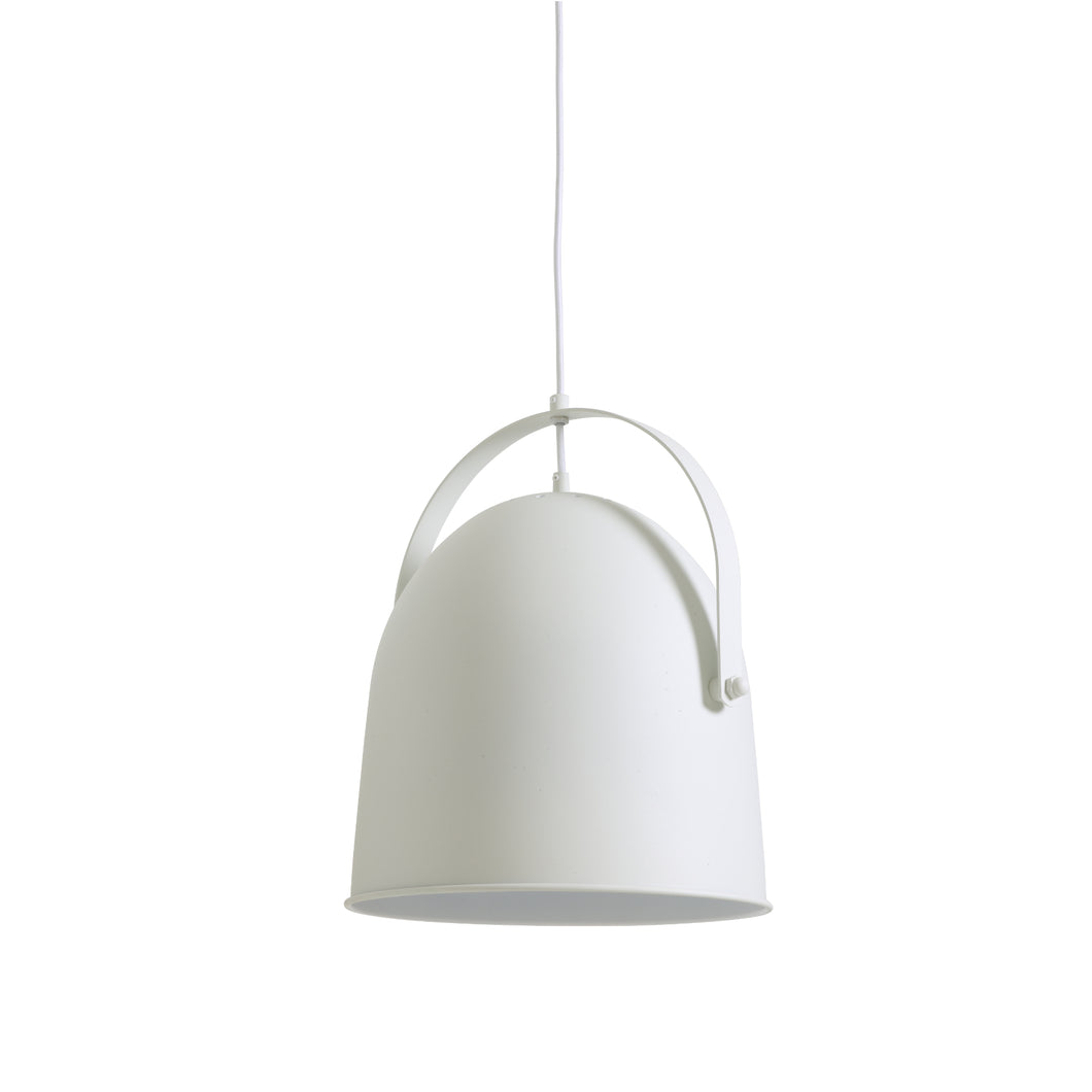Suspension cloche Walada blanche