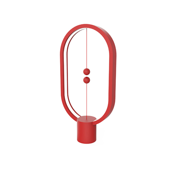 Lampe de table elipse Heng Balance bois rouge