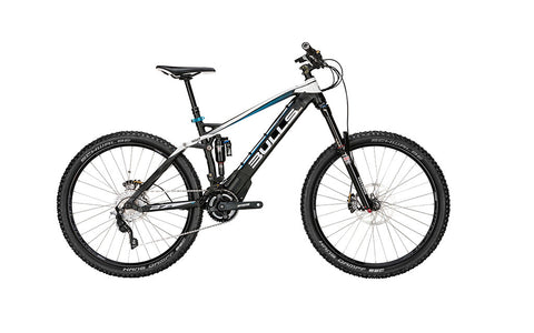 Bulls E-STREAM FS ENDURO 27.5 boasts a powerful battery, fully-integrated in the downtube. Get the lowest price in the nation at Crazy Lenny's E-Bikes.