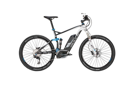 BULLS SIX50 E FS 3 RSI features everything you want out of a full suspension all-mountain bike. Get the lowest price in the nation at Crazy Lenny's E-Bikes.
