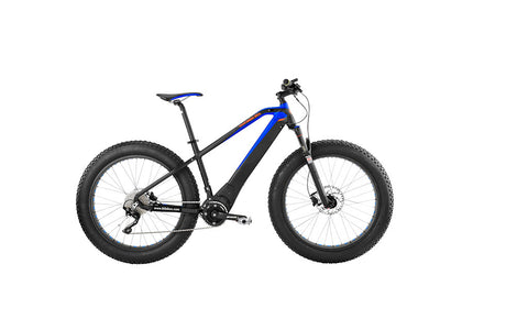 Easy Motion's ATOM BIG BUD PRO is a new edition to the Fat Tire offerings, use of the Brose mid-drive system allows the ATOM fat tire to employ the Rock Shox Bluto suspension fork. Check it out today at Crazy Lenny's E-Bikes.