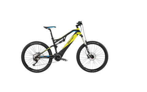 Easy Motion ATOM LYNX 6 27.5 PRO at Crazy Lenny's E-Bikes. Fully ready for any trail, it has one additional inch of suspension travel.