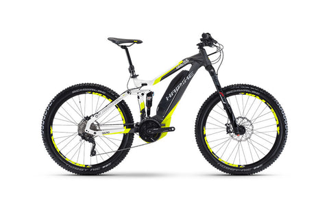 Haibike SDURO ALLMTN 6.5 is powerful with dynamic support up to 20mph and allows a dual chainring. This e-bike also comes equipped with an LCD display to show your riding information.
