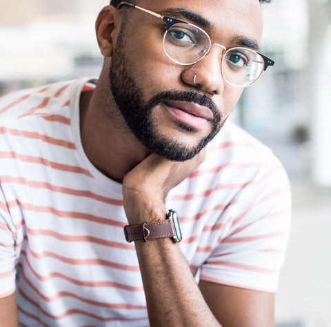 handsome young black man with neatly trimmed beard