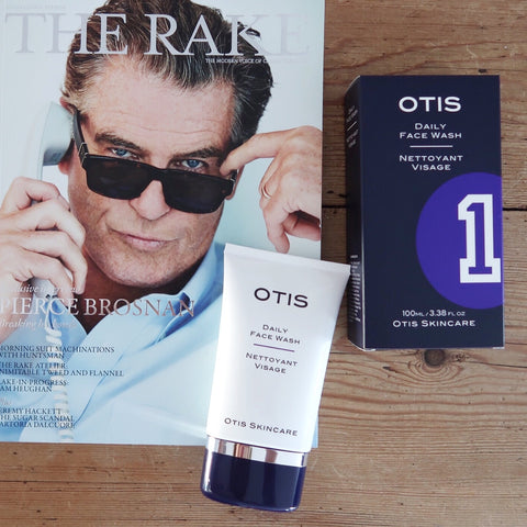 OTIS SKINCARE Daily Face Wash on top of copy of The Rake where it is the top selling face wash