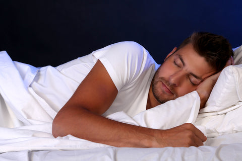 best skincare tips - man sleeping