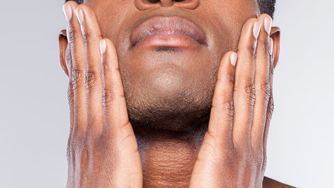 close up of a man's hands with clean nails