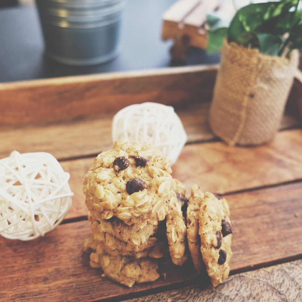 Whole Oat Choc Chip Cookies