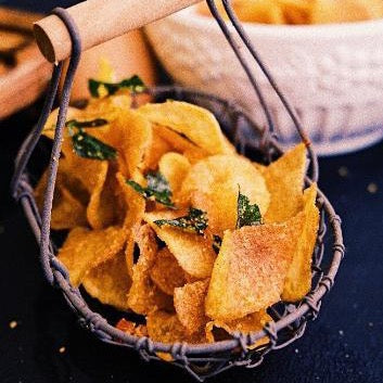 Salted Egg Yolk Potato Crisps