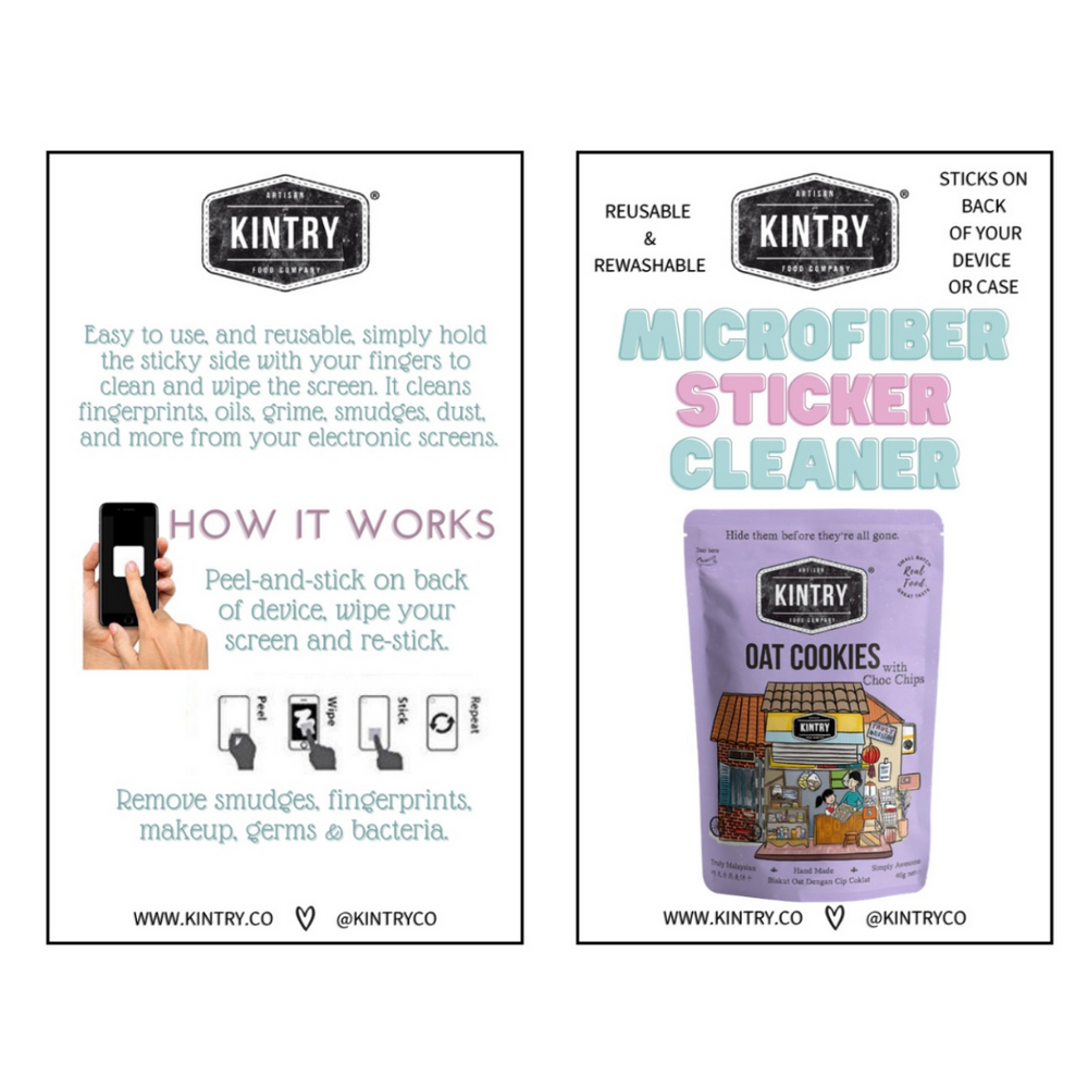 Microfibre Screen Sticker Cleaner - Kintry