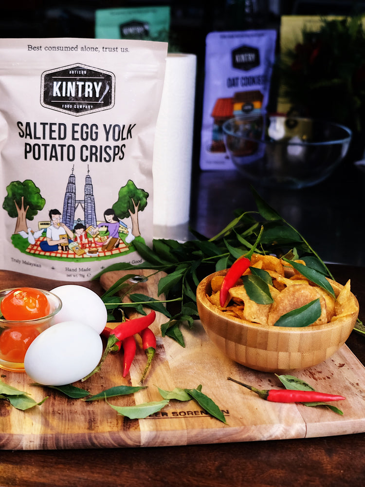 Load image into Gallery viewer, Salted Egg Yolk Potato Crisps - Kintry