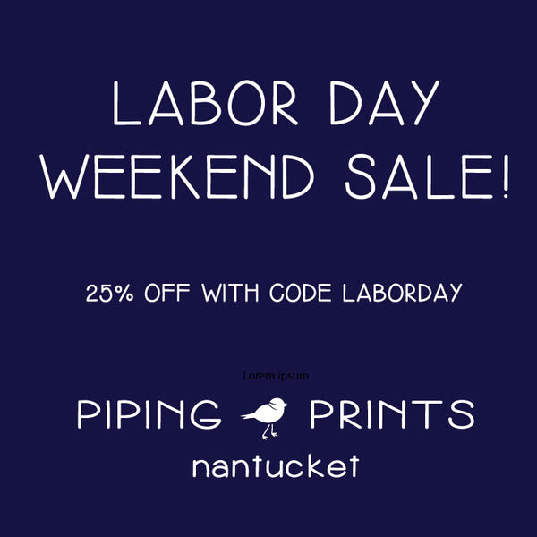 Labor Day Weekend Sale