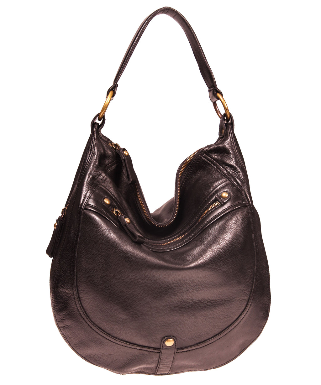 Rounded Hobo with EZ Front Zip