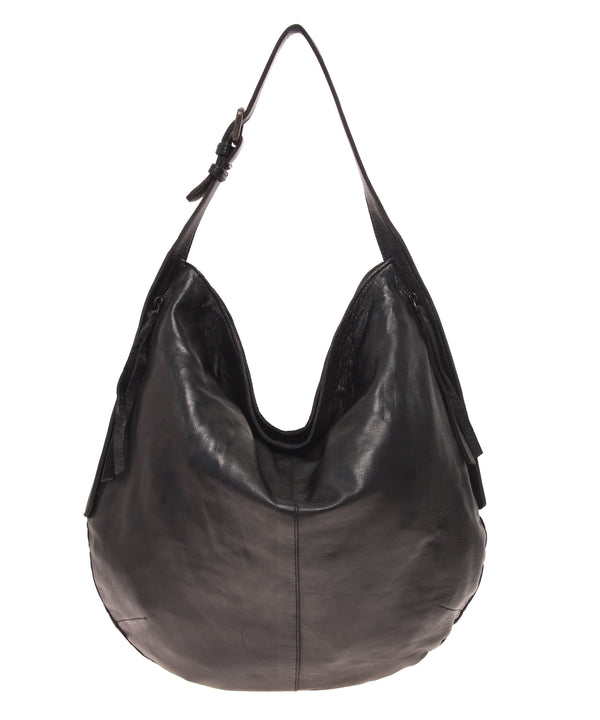 Tano Rounded Hobo with Two Side Zip Pockets