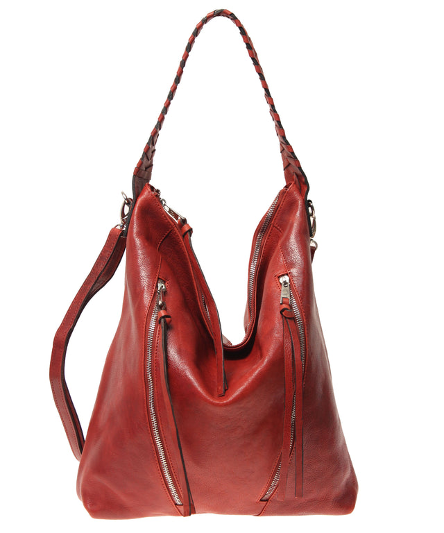 Tano Moto Zip Hobo w/ Whipstitch Handle