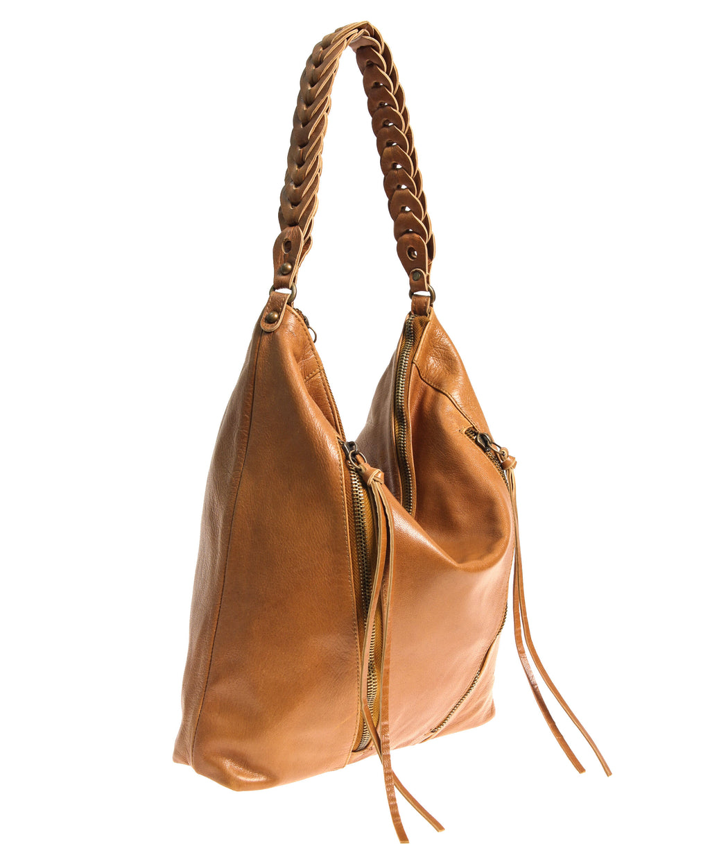 Tano Double Zip Hobo w/ Chain Link Handle (4289023115348)