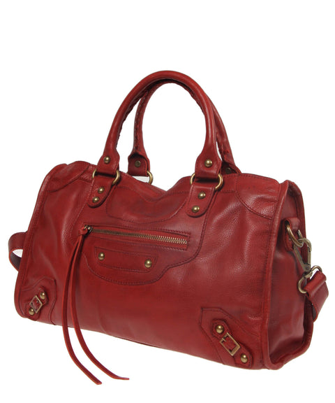 Tano Equestrian Satchel w Whipstitch Handle