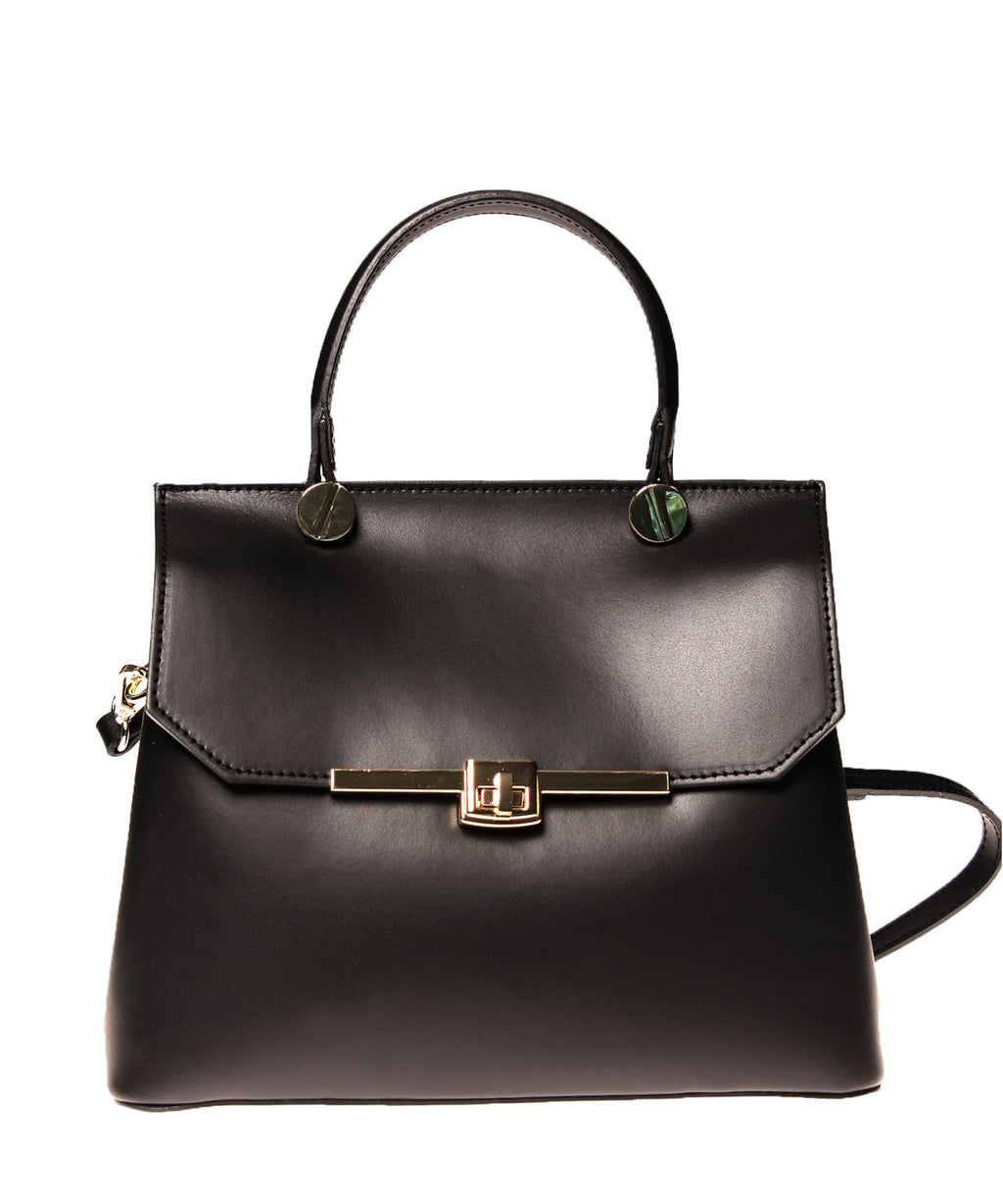 Italian Turn Lock Satchel (4397088374868)